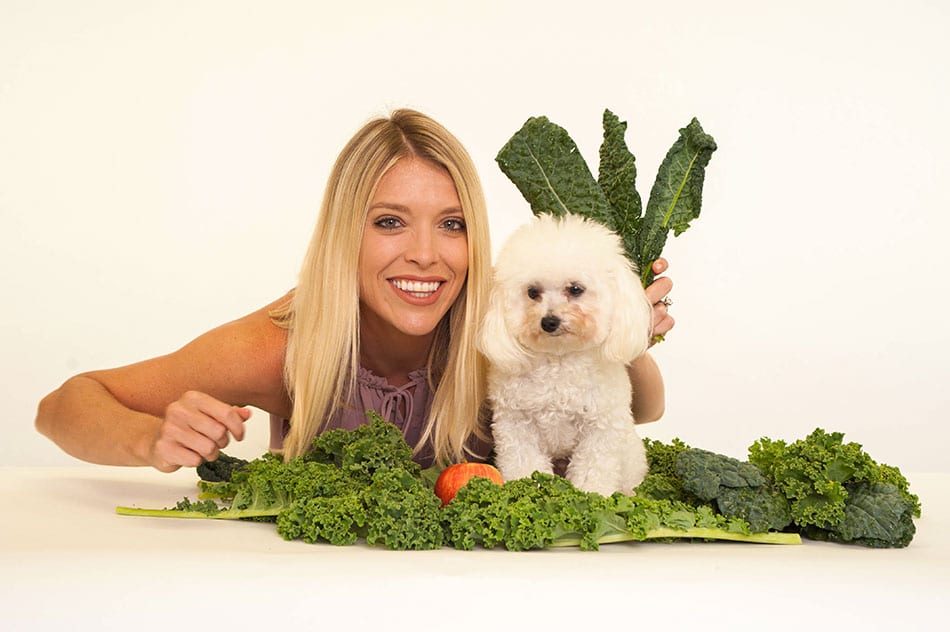 Veronica and Coconut and kale