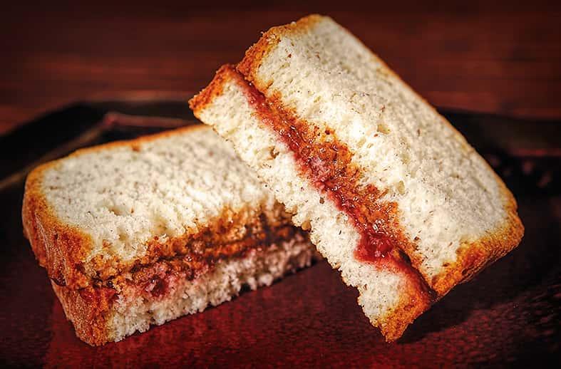 Healthy Sandwich: Fresh Fruit Jam & Raw Almond Butter