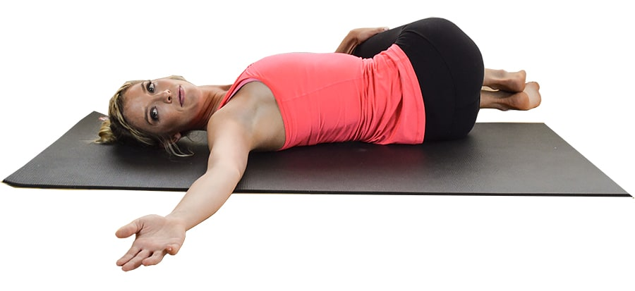 supine spinal twist