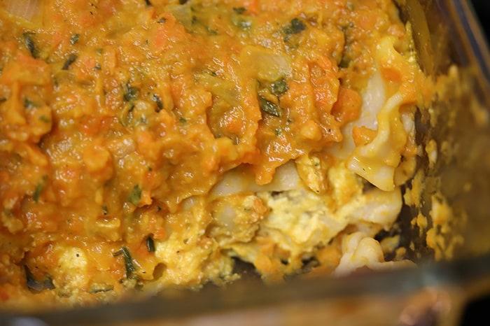 """Pumpkin Lasagna & Rosemary """"Ricotta"""""""
