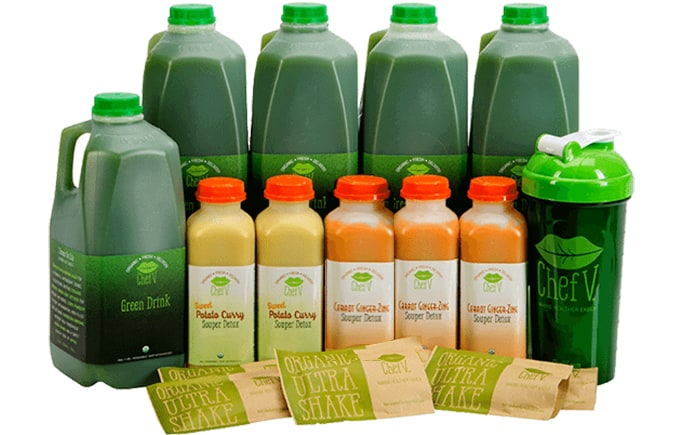 3 day Chef V Cleanse contents