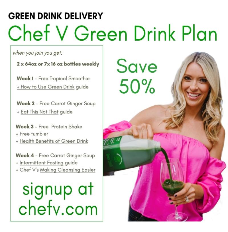 Chef V's Green Drink Plan 50% off