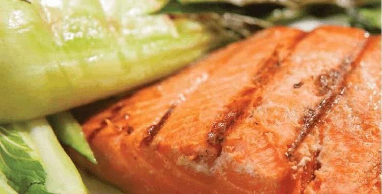 Ginger Glazed Salmon w/ Baby Bok Choy