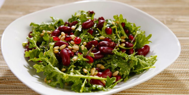 Super Food Power Salad with Pomegranates