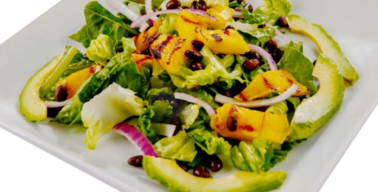 grilled mango salad
