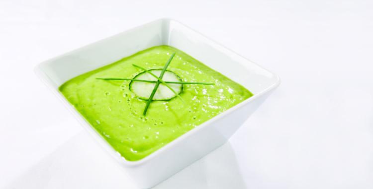 Raw Cucumber + Avocado Gazpacho